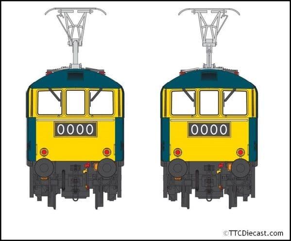 HELJAN 8654 Class 86 BR Rail blue E3156 BR logo and FYE, OO Gauge